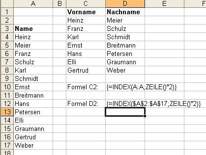 index-und-zeile