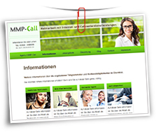 Vorschaubild Website Agentur MMP-Call