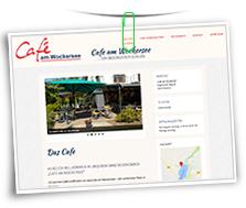 Vorschaubild Website Cafe am Wockersee