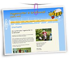 Vorschaubild Website Tagesmutter in Greifswald