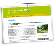 Vorschaubild Website Tagesmutti Irene